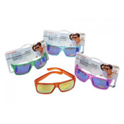 Transparent Jelly Mirrored Sunglasses
