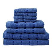 8 Piece Towel Bale Royal Blue Egyptian Cotton