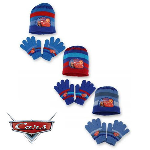 Childrens Hat & Glove Set Disney Cars