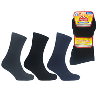 Mens ProHike Non Elastic Thermal Sock Dark Assorted