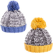 Boys Chunky Cable Knit Bobble Hat