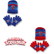 Childrens Hat & Glove Set Ultimate Spiderman Emblem