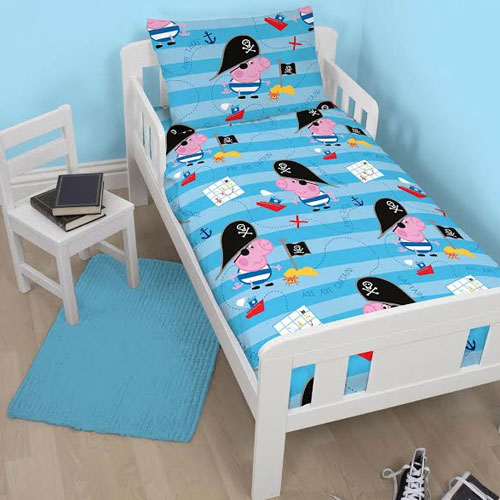 Peppa Pig George 4 Piece Toddler Bed Set