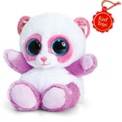 Animotsu Pink And Lilac Panda Cuddly Soft Toy