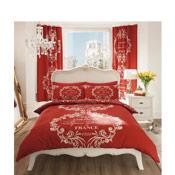 Paris Red Duvet Set