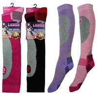 Ladies High Performance Padded Ski Socks