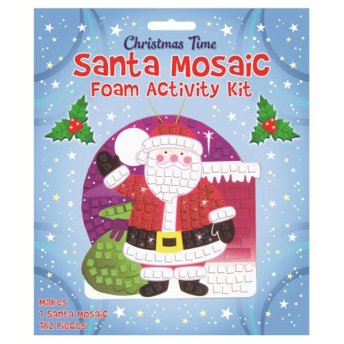 Mosaic Christmas Santa Craft Kit