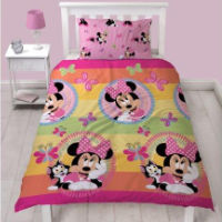 Official Minnie Mouse Duvet Set Butterflies