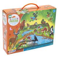 3D Wildlife Puzzle 45 Pieces