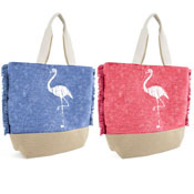 Flamingo Print Bag With Handle
