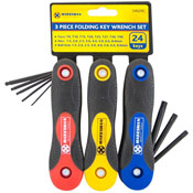 3 Piece Folding Key Wrench Set