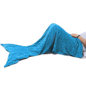 Mermaid Fleece Blanket Throw Adult Ocean Blue