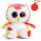 Animotsu Rainbow Owl Cuddly Soft Toy