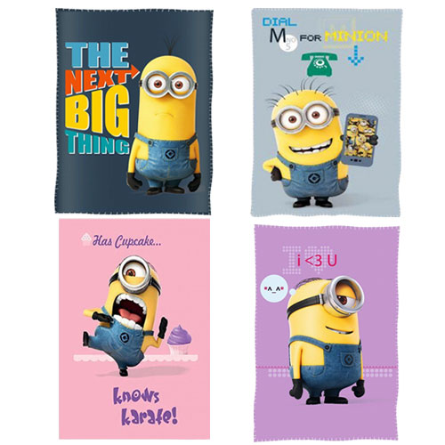 Official Despicable Me Assorted Character Fleece Blanket Throw