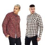 Mens Tartan Check Long Sleeve Flannel Shirt