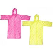 Ladies Rain Coat With Hood Assorted