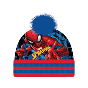 Spiderman Childrens Bobble Hat & Gloves Set