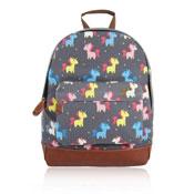 Unicorn Design Front Pocket Backpack Grey