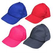 Childrens Plain 5 Panel Baseball Caps