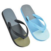 Boys Striped Print Flip Flops Black/Blue