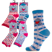 Girls Bear Hugs Novelty Socks
