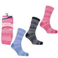 Ladies 3 Pack Exquisite Thermal Socks Aztec
