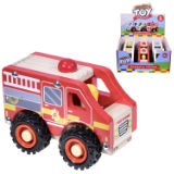 Wooden Emergency Vehicles 3 Assorted
