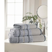 Egyptian Cotton Hand Towel Grey Stripe