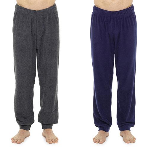 Mens Plain Marl Fleece Lounge Pants