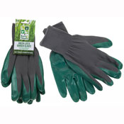 Green Latex Extra Grip Garden Gloves