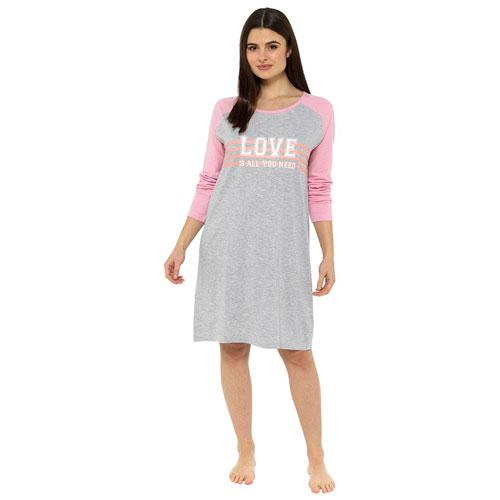 Ladies Love Printed Long Sleeve Nightie