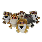 Plush Sparkle Eyes Wild Animals 6 Assorted