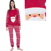 Ladies Festive Santa Pyjama Set