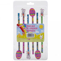 Easter Pencils With Novelty Erasers