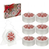 Tealight Candle Set Red