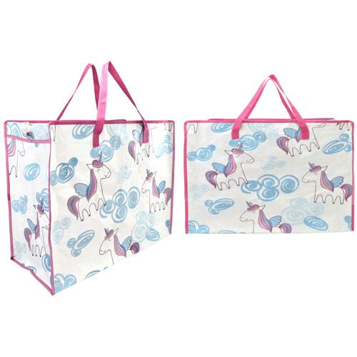 Large Unicorn Print Laundry / Beach Bag