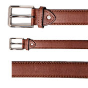 58% Leather Plain Lined Belt Brown