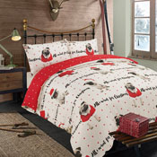 Dreamscene All I Want Pug Christmas Duvet Set