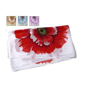 Ladies Summer Scarf with Large Flower Print