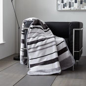 Faux Mink Throws Bertie Stripe Grey