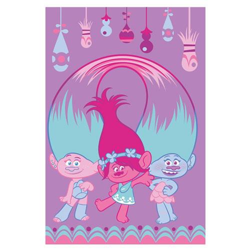 Trolls Glow Childrens Character Fleece Blanket Throw