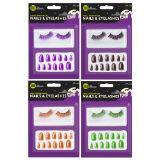 Halloween Nails And Eyelashes