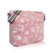 Foil Butterfly Crossbody Bag Pink