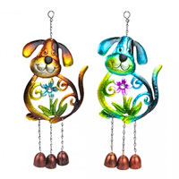 Metal Dog Garden Wind Chime