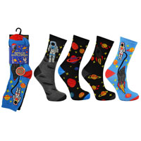 Space Explorer Childrens Novelty Socks