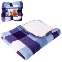 Luxury Sherpa Double Sided Pet Blanket Blue