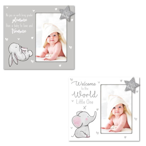 Hugs & Kisses Baby Wooden Photo Frame