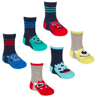 Baby Boys Monster Socks 3 Pack