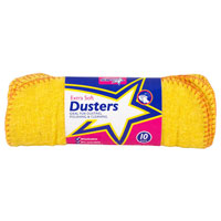 Cotton Yellow Dusters 10 Pack