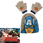 Childrens Avengers Beanie Hat and Gloves